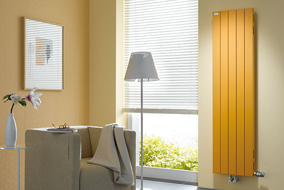 Radiateur Decotherm Plus Arbonia, vertical, jaune sunny day